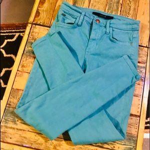 Teal HI Waist Joe's skinny jeans